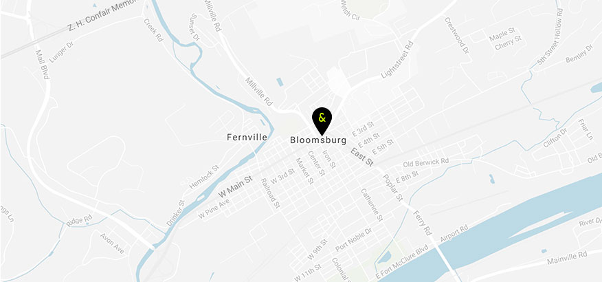 Map bloomsburg