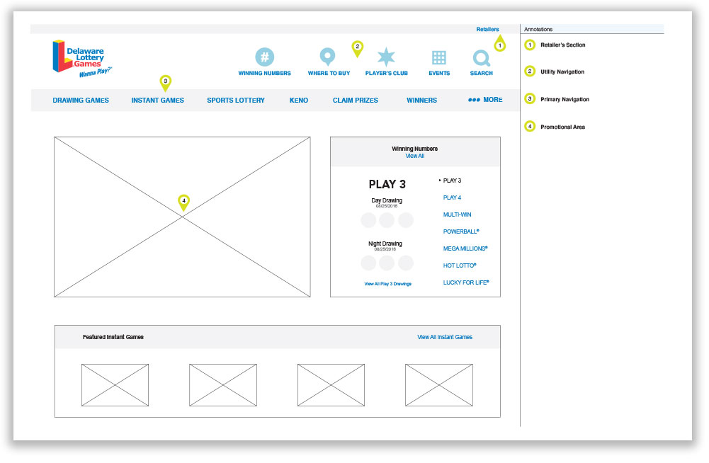 Work sample wireframe 1